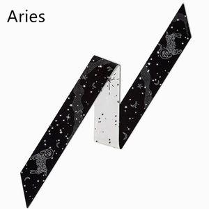 Accessories - Aries Zodiac Sign Silk Twilly Scarf